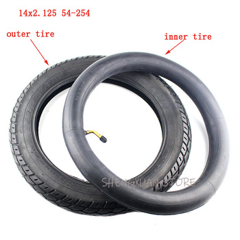 14 inch wheel Tire 14 X 2.125 / 54-254 tyre inner tube fits Many Gas Electric Scooters and e-Bike 14*2.125 tire 14x2.125 1pcs electric bicycle tires 2 25 14 2 50 14 2 75 14 inch electric motorcycle bicycle tire bike tyre whole sale use