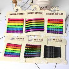 10 adet renkli popülerlik basit tokalar siyah alaşım şık boyalı Basitic saç klipleri saç tokaları saç aksesuarları şapkalar