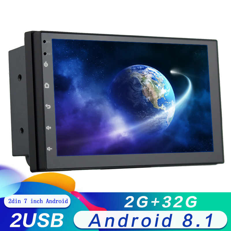 2din Android 8.1 Systeem Touch Screen 7 Inch HD 2 DIN Auto radio GPS Navigatie Car Audio Autoradio Multimedia Speler