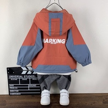 Kids Jacket Coats Outerwear Cardigan Hooded Boys Windproof Polyester Lined Long-Sleeve