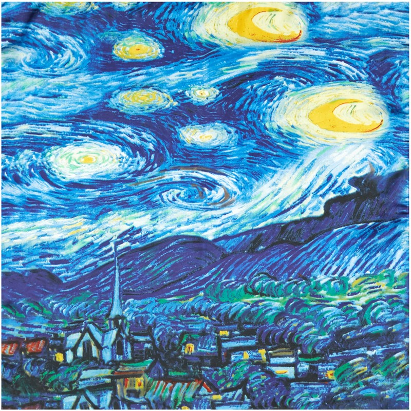 Van Gogh Oil Painting Silk Scarf Bandanna Women Scarf Fashion Foulard Scarves Classic Art Neckerchief Printed Handkerchief