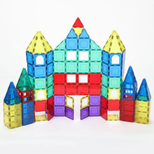 120Pcs Kids Magnetic Designer Construction Set Plastic  Model Toys, Magnetic Blocks Building Educational Toy For Children Gift