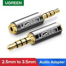 Ugreen jack 3.5mm a 2.5mm adaptador de áudio 2.5mm macho a 3.5mm conector plugue fêmea para aux alto-falante cabo fone de ouvido jack 3.5(China)