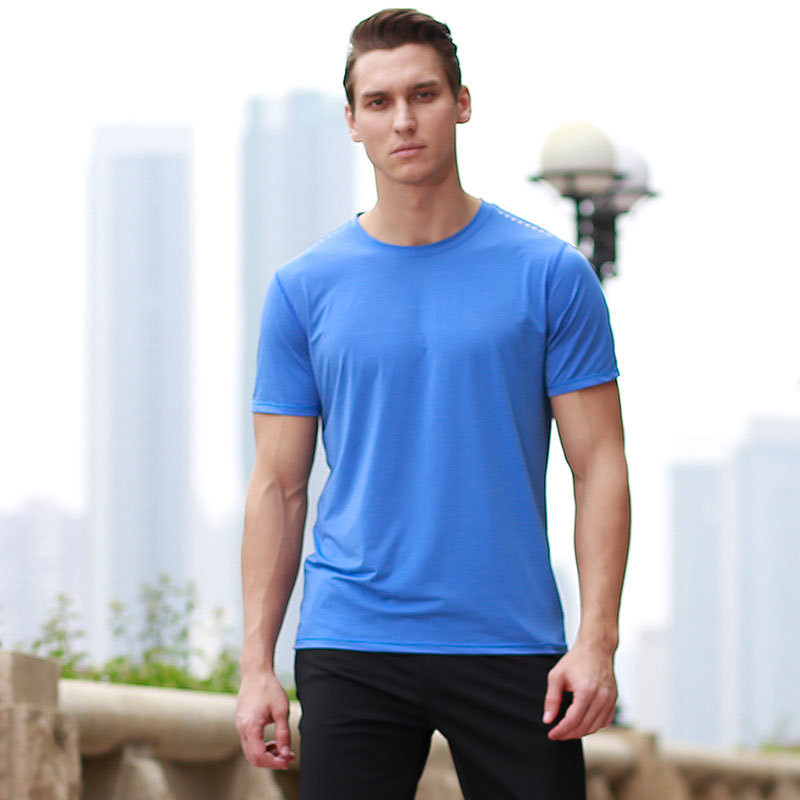 6001- summer  trade fashion simple solid color street style T-shirt short-sleeved shirt shirt t-shirt round neck men's t-shir