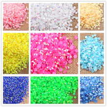 2-6mm 1000Pcs Resin Rhinestones Crystal Clear AB Flatback For Clothes 3D Nail Phone Art Decoration