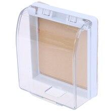 1 шт. настенный выключатель, водонепроницаемый чехол, настенный светильник, панель, розетка, дверной звонок, откидная крышка, прозрачный акс...
