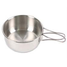 Quality 304 stainless steel folding bowl Outdoor camping portable picnic bowls set Instant noodle home cookware tableware