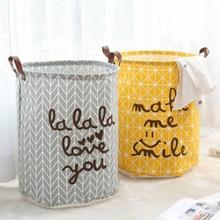 цены на New Foldable Laundry Basket Super Large Kids Toy Storage Basket Cotton Washing Dirty Clothes Big Basket Organizer Bin Handle в интернет-магазинах