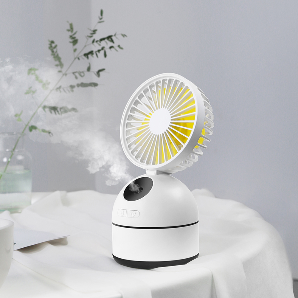 3in1 Mini Portable Table Fan 200ML Air Humidifier USB Rechargeable Mini Spraying Cooling Air Fan Moisturizing Air Conditioner