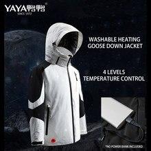 YAYA-Chaqueta de plumas de ganso con capucha para hombre, abrigo informal con cuello, aislante térmico de carga, Control de temperatura, impermeable