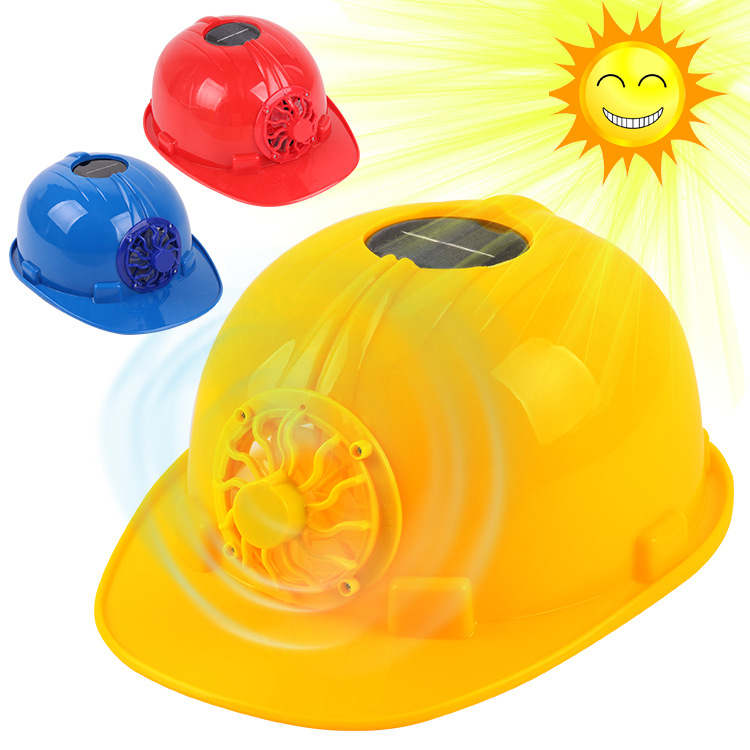 Solar Fan Cap Engineering Use Hat Architecture Work Site Safety Helmet Protective Cap Compressive Refreshing Helmet
