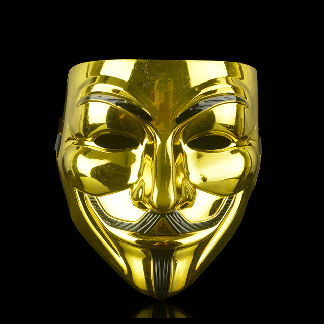 Party Cosplay V for Vendetta Hacker Mask Anonymous Guy Fawkes Halloween Christmas Adult Kid Festive Masquerade Film Theme Mask 4