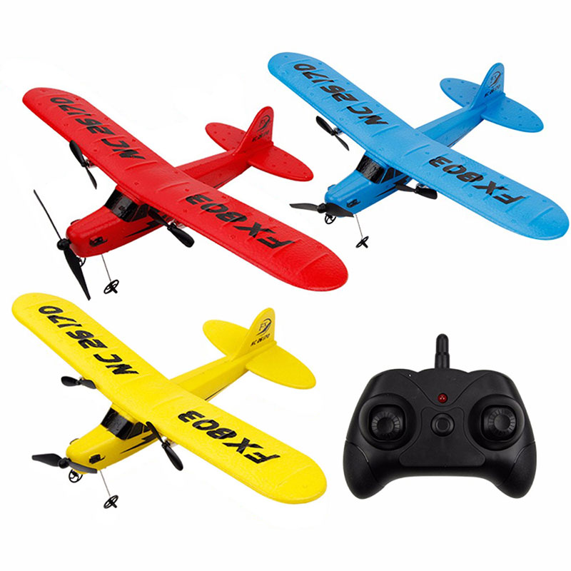 FX-803 RC Air Plane 2.4G Foam RC Plane EPP Airplane Model Outdoor Remote Control Glider Two-Way Fixed Wings Kids Gift Toy image