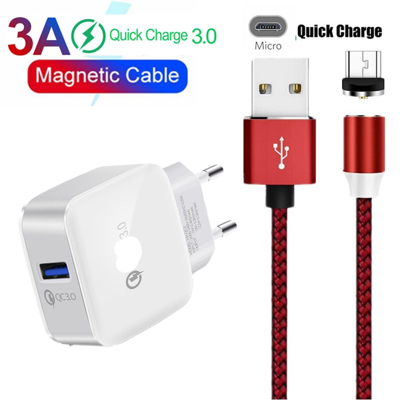1M Fast Magnetic Cable Micro USB Cable For <font><b>Nokia</b></font> 4.2 3.2 2.2 2.1 3.1 plus 1 2 3 4 5 6 110 <font><b>105</b></font> 220 QC 3.0 USB <font><b>Charger</b></font> wire cord image