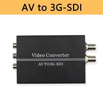 AV to Full HD 1080p 3G SDI Converter R/L RCA CVBS to 3G/HD-SDI Adapter Converter for CRT HDTV Camera