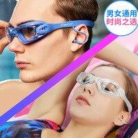Óculos de proteção transparentes para homem de alta definição óculos de armação grande adulto anti nevoeiro sem miopia à prova dwaterproof água feminino sem espelho de natação|Óculos de segurança| |  -