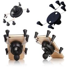 รถจักรยานยนต์ Webgrip X Grip Mount 1 นิ้วสำหรับผู้ถือ GoPro RAM Mounts และ 3.5 นิ้ว 6.0 นิ้วสมาร์ทโฟน
