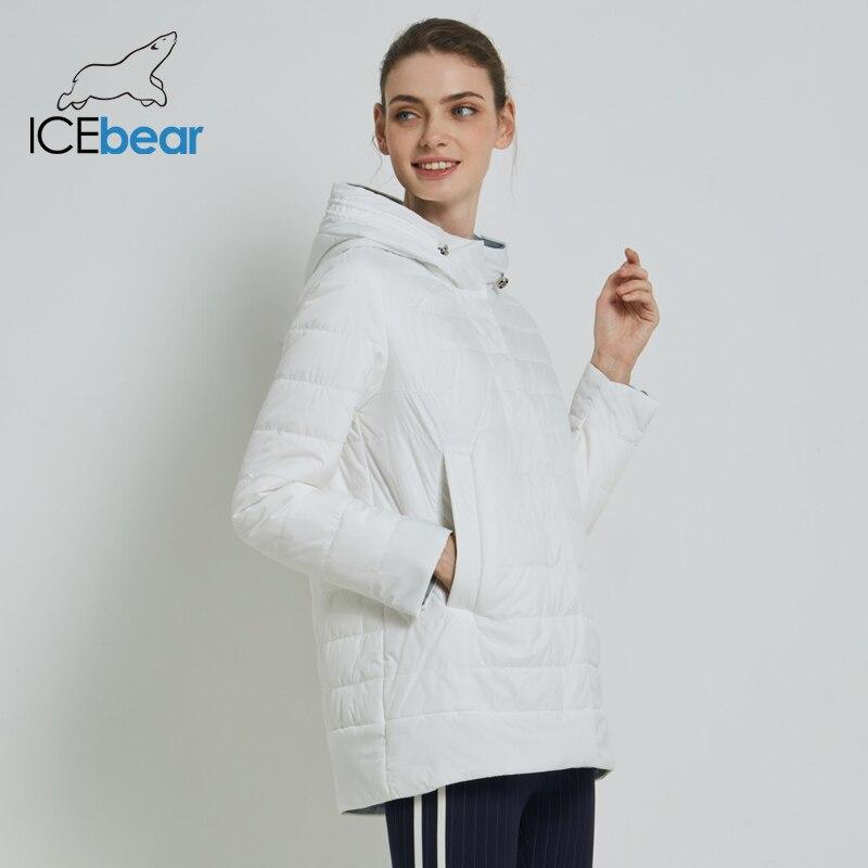 ICEbear 2019 vrouwen Jas Hoge Kwaliteit Vrouw Jas Casual Vrouwelijke Kleding Hooded vrouwen Jas GWC19015I-in Parka's van Dames Kleding op  Groep 1
