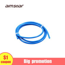 teflon tube blue 1.75 ptfe tube bowden extruder 1.75mm od 4mm id 2mm 3d printer parts 1 meter od id 7 4mm protection tube good thermostability insulation ceramic tube