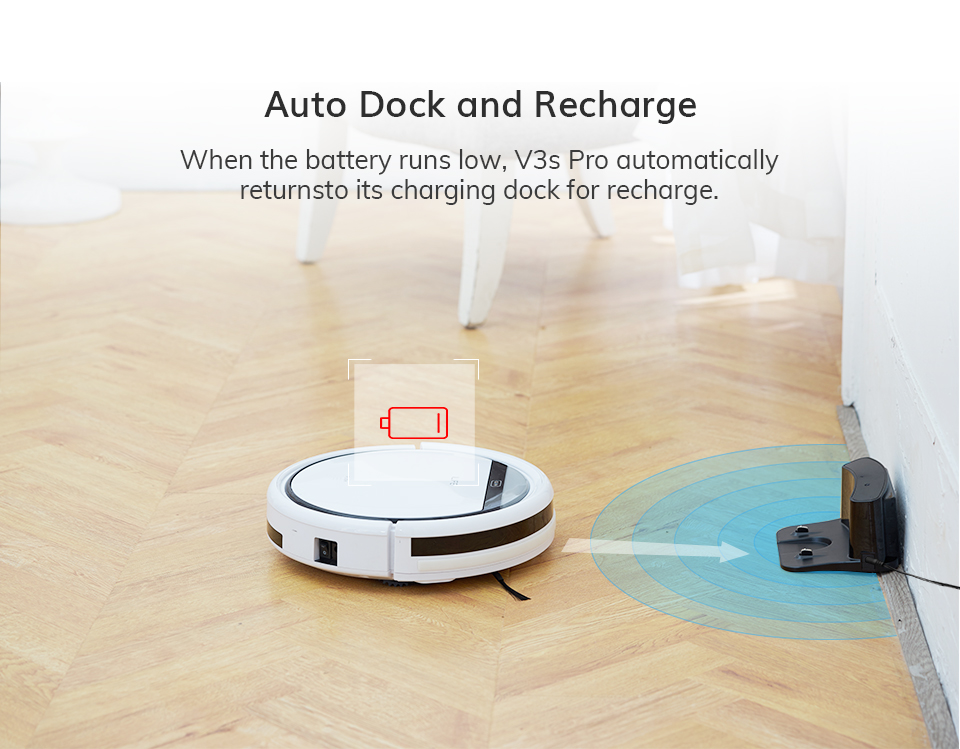 H91784da7527547c78868332ef4bf7389Q ILIFE V3s Pro Robot Vacuum Cleaner Home Household Professional Sweeping Machine for Pet hair Anti Collision Automatic Recharge