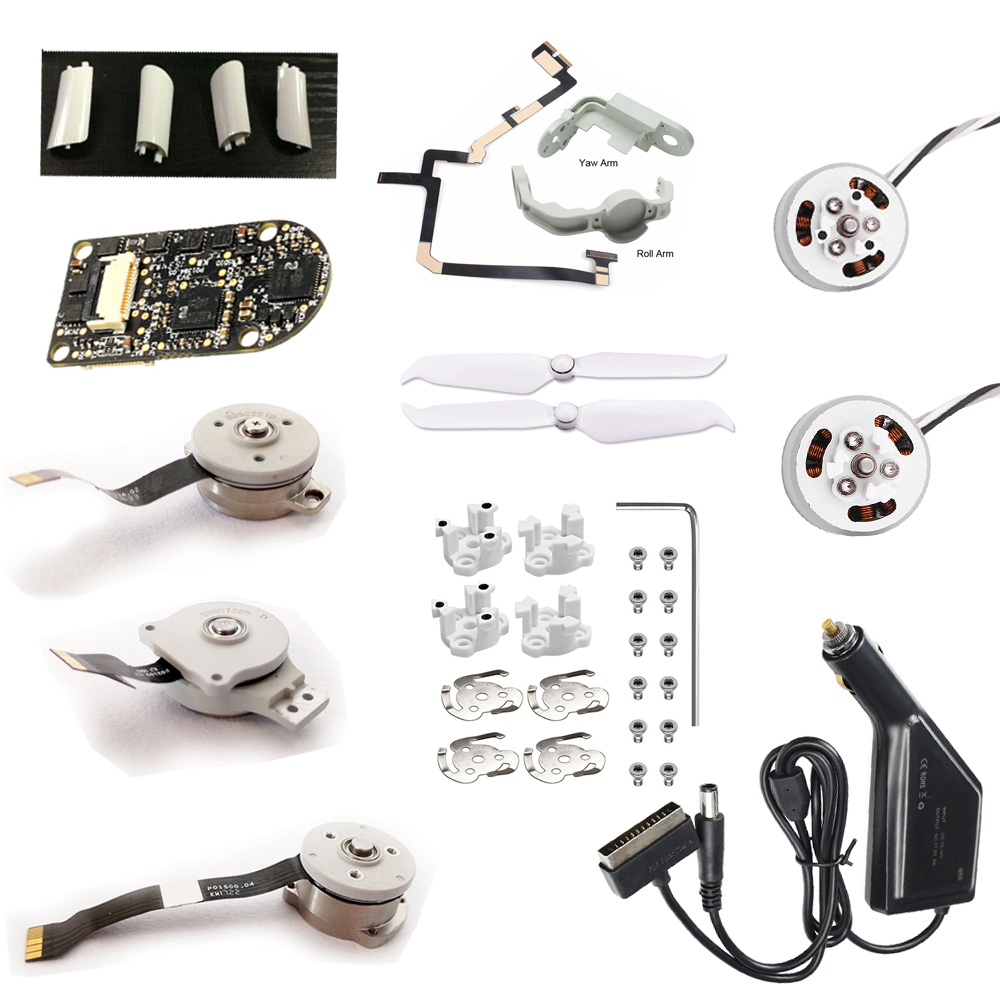 Brand New Original DJI Phantom 4/4Pro/4Pro Advance 2.0 Repair Parts Gimbal Roll/Pitch/Yaw Motor Blade Blades Flexible Cable