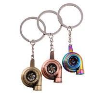 Porte-clés Mini Turbo en métal créatif, pendentif Turbine, accessoires d'intérieur de voiture, cadeau pour hommes