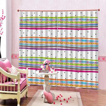 rainbow stripe curtains 3D Blackout Curtains For Living room Bedding room Drapes Cotinas para sala Decoration curtains
