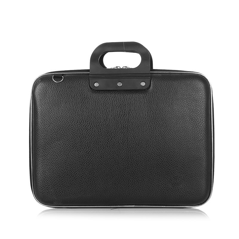 Men Laptop Bag Business Briefcase Fashion Simple Hard Shoulder Handbag PU Leather Travel Bags