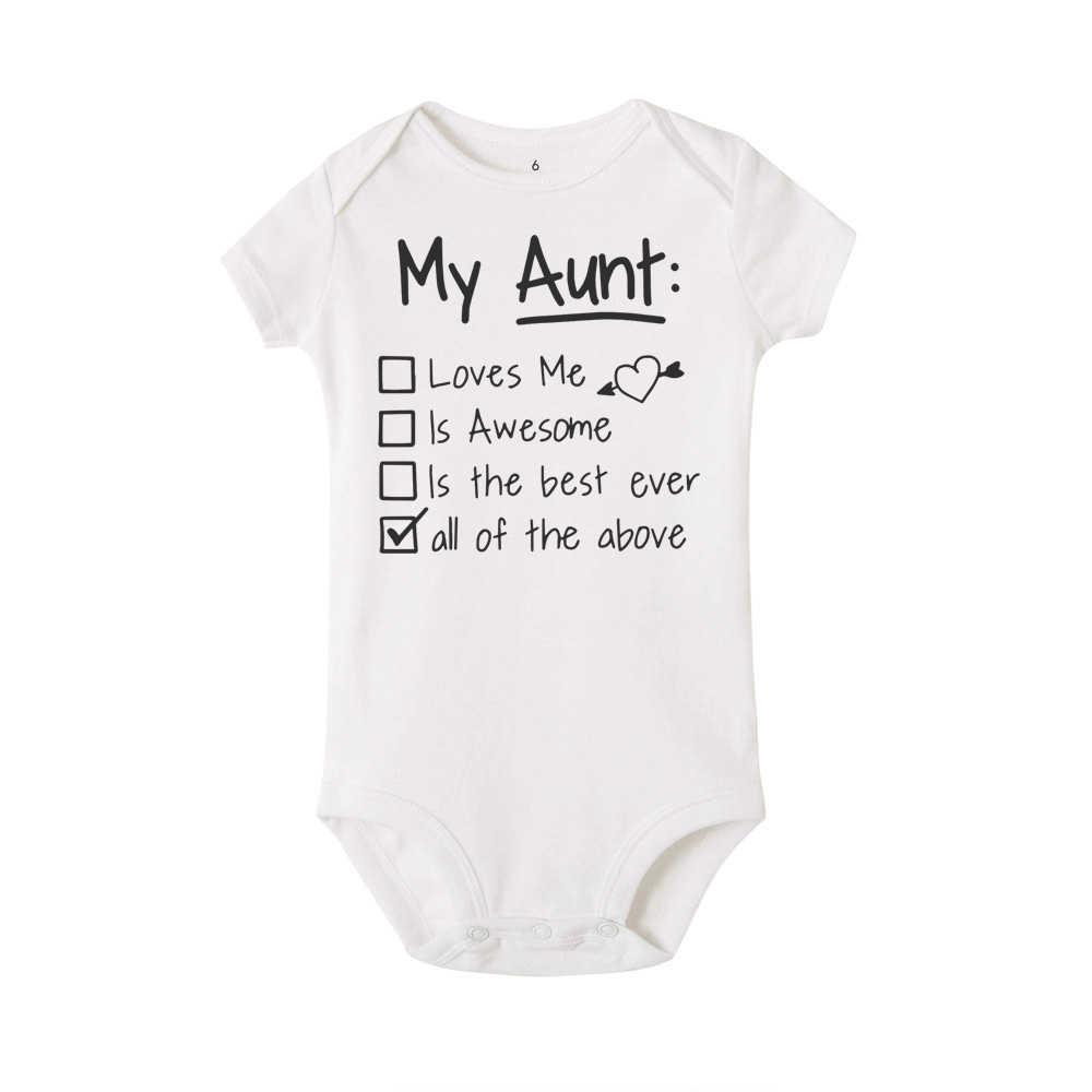 Детские комбинезоны «Моя тетя любит меня и потрясающие», Комбинезоны для маленьких мальчиков и девочек, Roupas Bebe, Детские Комбинезоны Одежда для новорожденных 0-24 месяцев