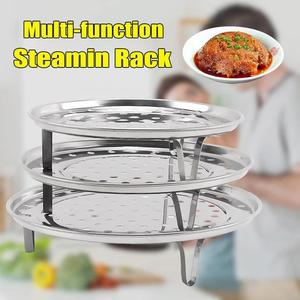 18/20/22/24/26cm Stainless Steel Steamer Rack Insert Stock Pot Steaming Tray Stand Cookware Tool