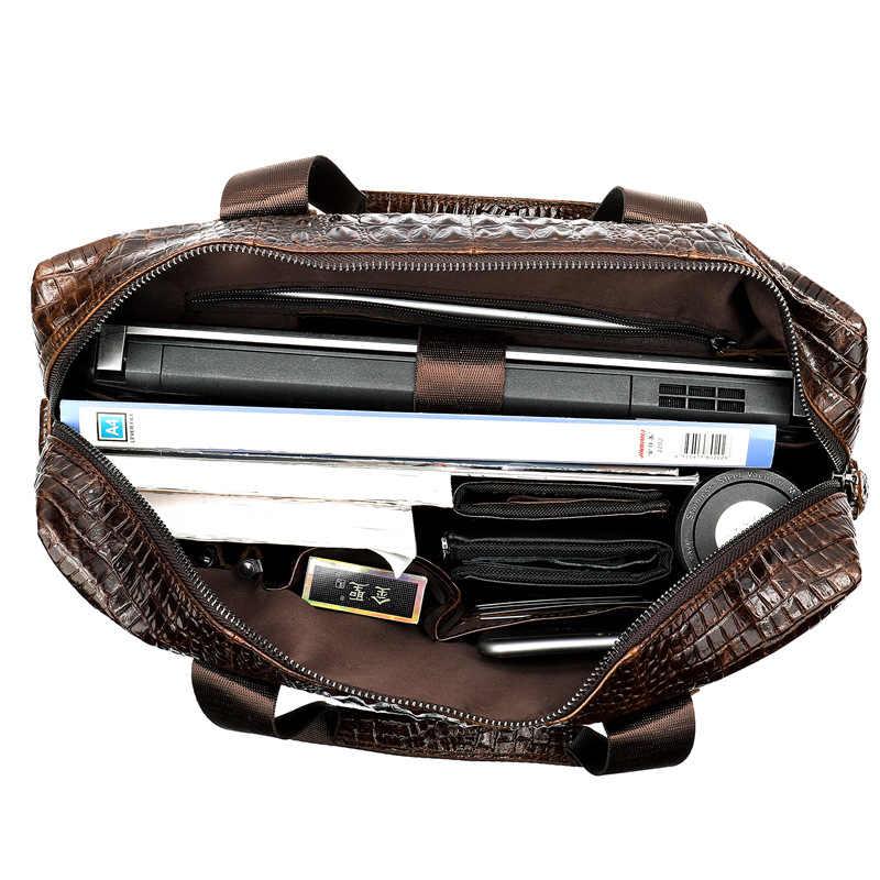MVA портфель из натуральной кожи мужская повседневная сумка из крокодиловой кожи мужская сумка через плечо женский кожаный портфель сумка для ноутбука