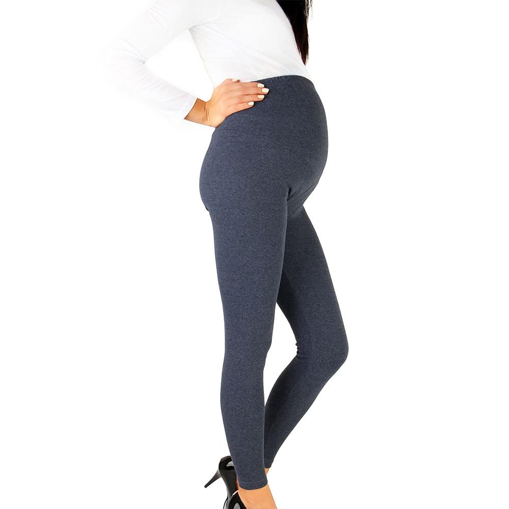 Для беременных женщин дышащие повседневные весенние обтягивающие брюки для беременных Леггинсы узкие брюки с высокой талией однотонные
