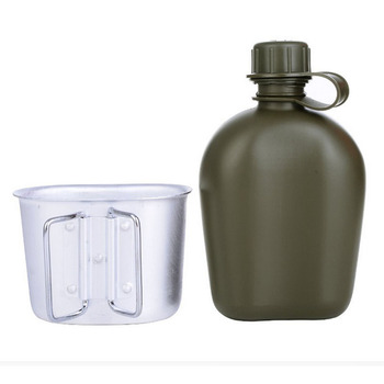 CNDRAGON Brand Large Capacity 1000ml Kettle sport Outdoor travel Bottle Portable Folding water bottle military camouflage bag 3