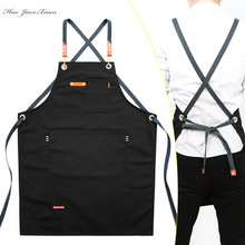 Work-Apron Tool-Pockets Canvas Cooking Adjustable New-Fashion Bib Unisex Woman for Men
