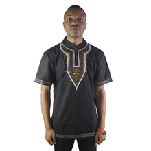 Africa Wedding Clothes Men`s Embroidered Ethnic Tops Vintage Tunic Shirts