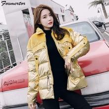 Бренд, женский пуховик, парка, базовая зимняя плюс бархатная Женская парка, пальто, белый утиный пух, куртки, Женская Золотая куртка