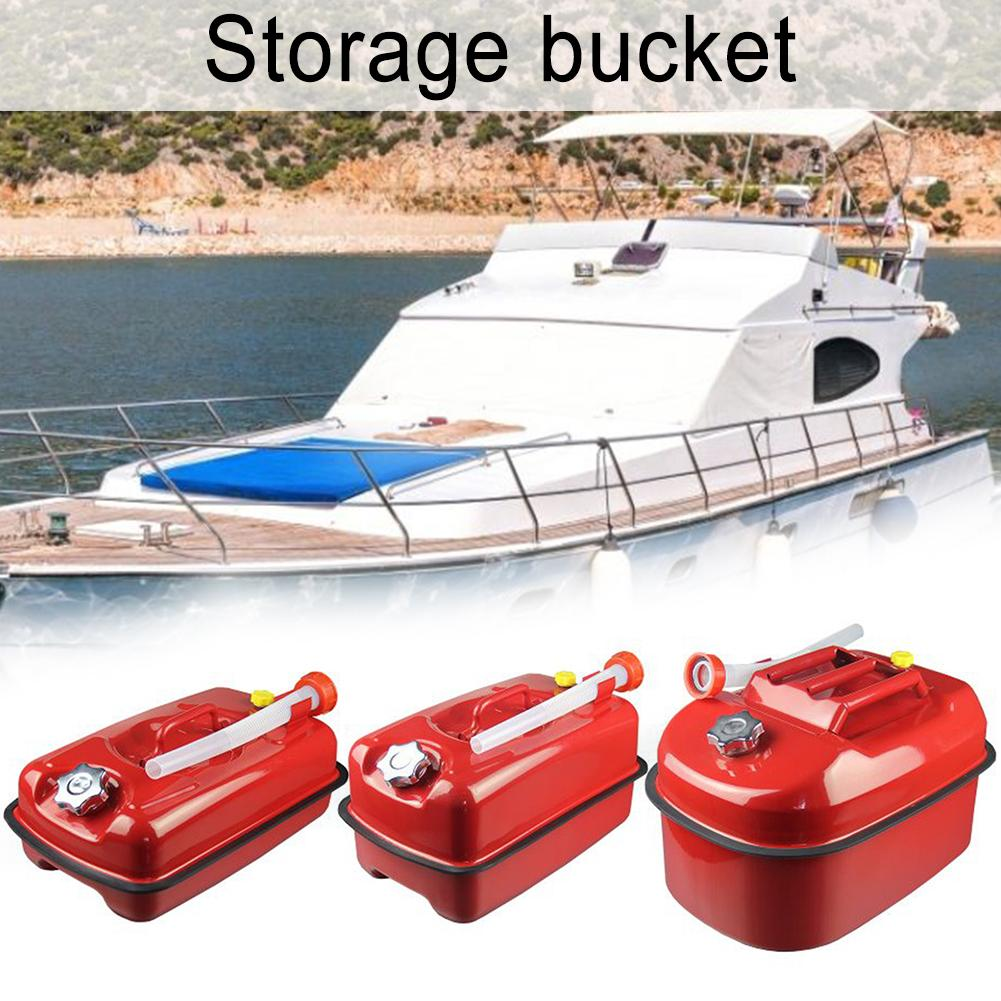 Thickened Lying Gasoline Can 5 Liters 10 Liters 20 Liters Portable Diesel Pot Iron Fuel <font><b>Tank</b></font> Car Motorcycle Spare Storage Bucket image