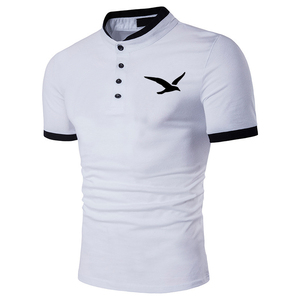 Seagull print Summer Men Polo