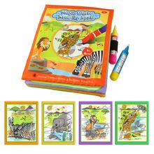 Sihirli su çizim kitapları boyama kitapları Doodle ve sihirli kalem boyama çizim kurulu çocuk DIY boyama oyuncaklar doğum günü hediyeleri