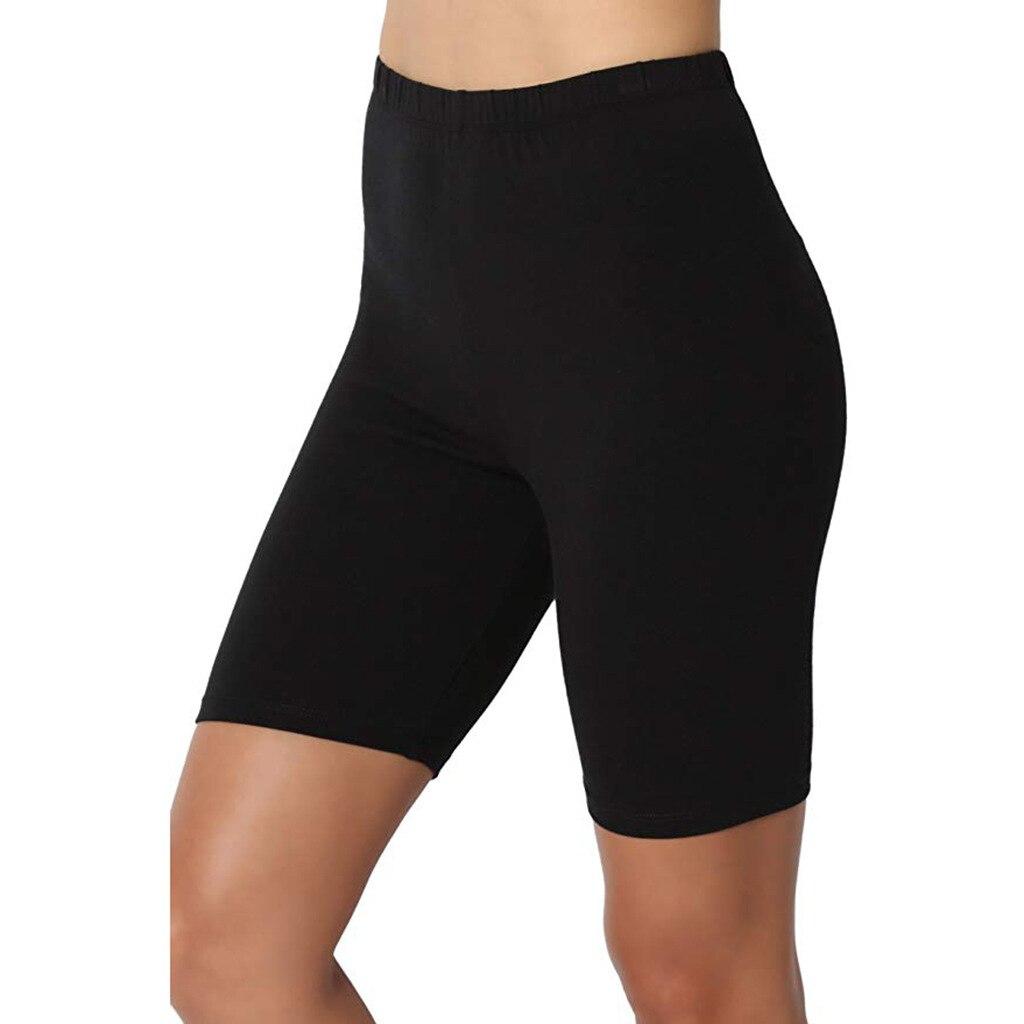 2020 Summer New Fashion Women Leggings Solid High Waist Shorts Knee Length Sports Gym Home Cycling Shorts Leggings