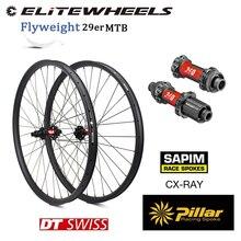 Комплект колес ELITEWHEELS DT Swiss 240 36T 29er карбоновые MTB XC AM, колесная пара Japn Toray, карбоновый обод 33 мм 29 мм, ссветильник легкий обод