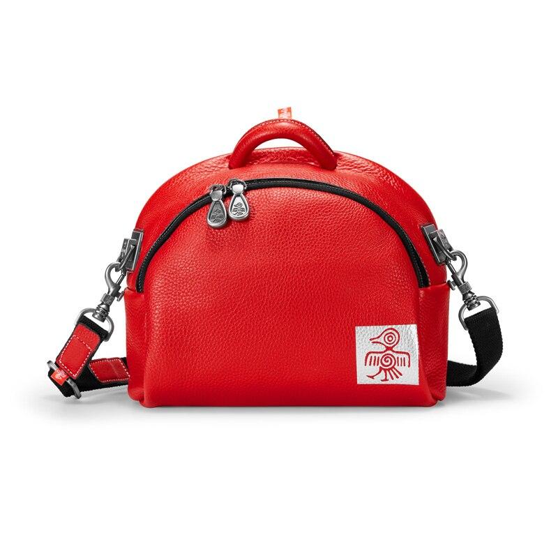 Orabird Luxury Saddle Bag Women Real Soft Genuine Leather Half-Moon Handbags Zipper Opening City Female Shoulder Messenger Bags