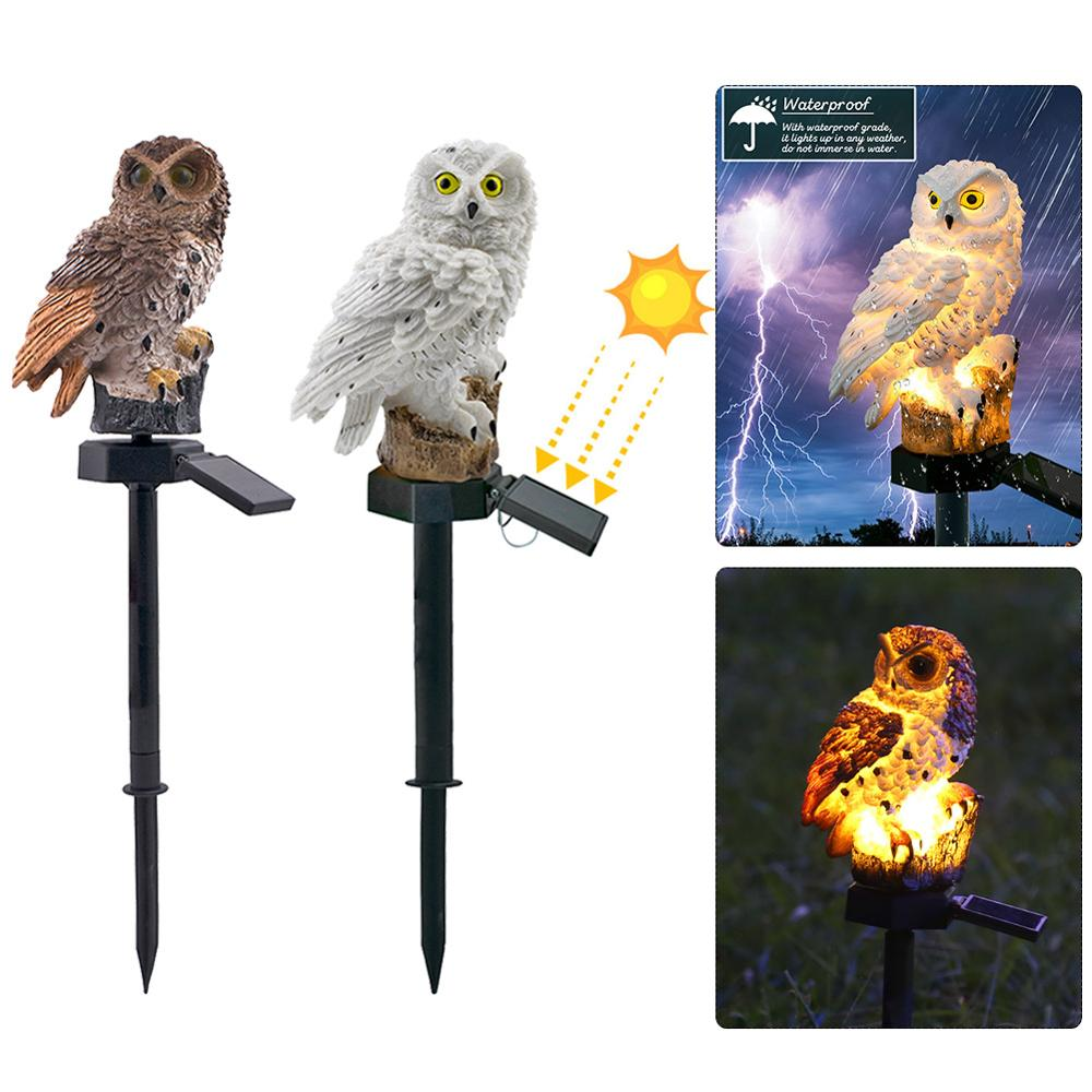 Owl Solar Light With Solar LED Panel Waterproof IP65 Outdoor Solar Powered Led Path Lawn Yard Garden Lamps Home Garden Decor