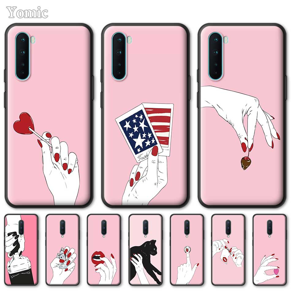 Silicone Phone Case For OnePlus Z 8 Nord 6T 6 7 7T Pro 5G Black Soft Coque Moon Spells Makeup Colorful TPU Cover Shell