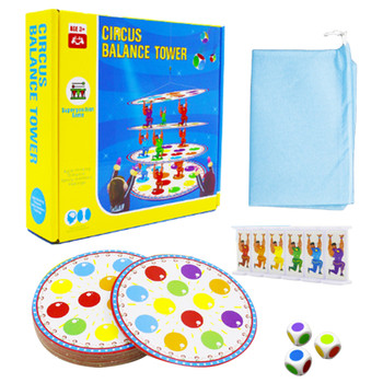 Circus Balance Tower Interesting Educational Toy Gameplay Cultivate Children's Thinking Skills And Social Skills image