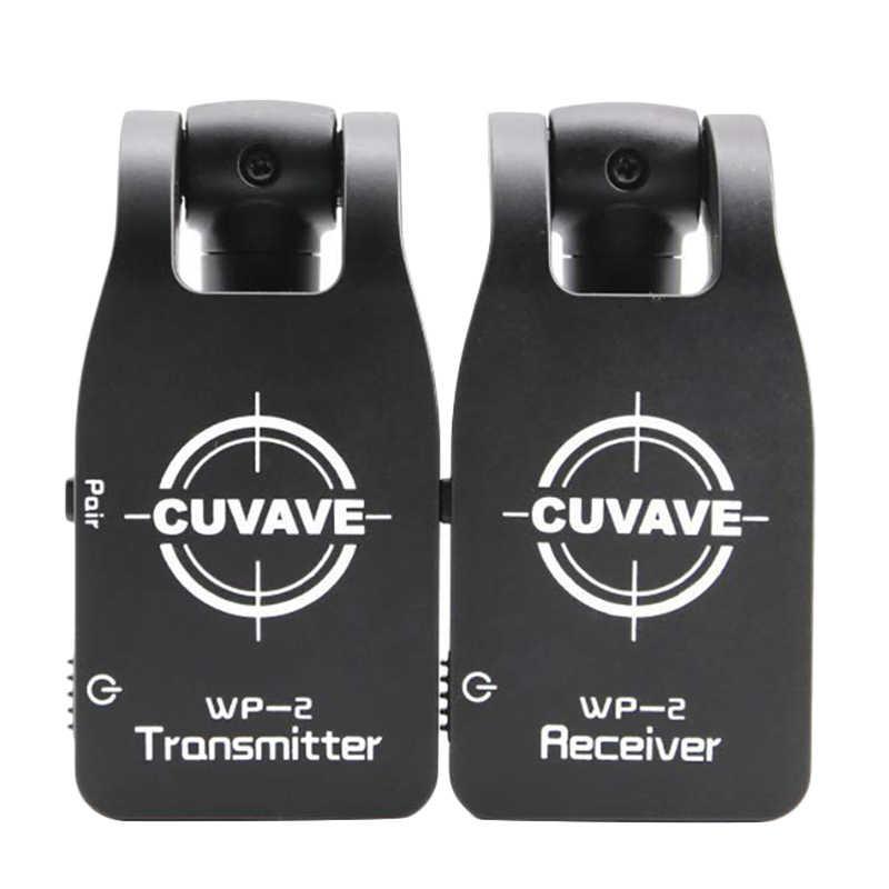 CUVAVE Wp-2 2.4GHZ système de guitare sans fil émetteur numérique récepteur pour guitare électrique basse intégré Rechargeable Lithium Ba
