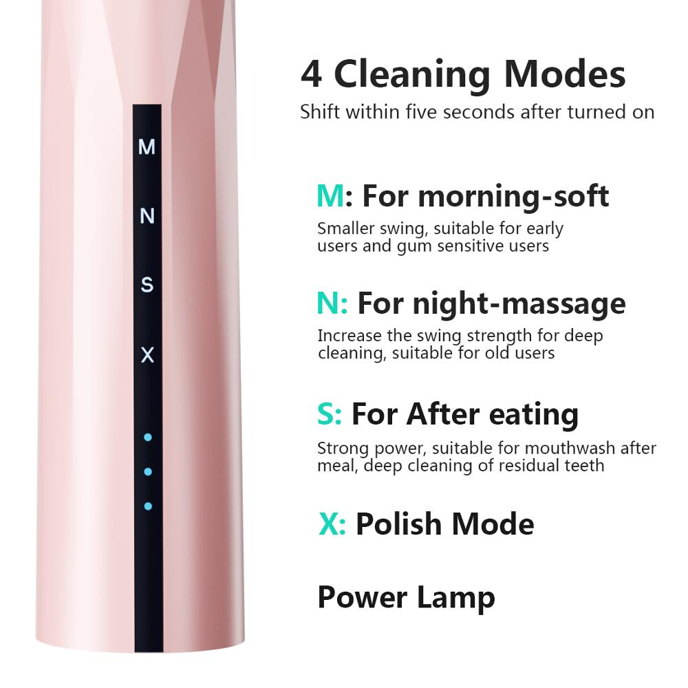 Image 2 - Powerful Ultrasonic Sonic Electric Toothbrush New Design USB Rechargeable Tooth Brushes Waterproof Whitening Healthy Best Gift-in Electric Toothbrushes from Home Appliances
