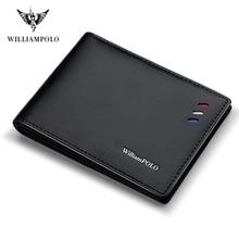 WILLIAMPOLO torebka dla mężczyzn prawdziwej skóry portfele męskie cienkie męskie etui z miejscem na karty Cowskin miękkie Mini torebka PL315
