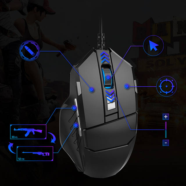 Mobile Game Keyboard and Mouse Adapter, USB Mobile Game Controller Converter Wired/Wireless Connections, Adapter for Android/iOS