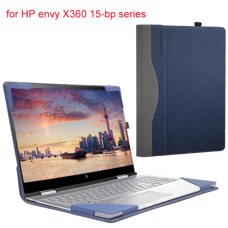 Laptop Cover For <font><b>Hp</b></font> <font><b>Envy</b></font> <font><b>X360</b></font> <font><b>Convertible</b></font> 15-bp 15.6 Sleeve Case For <font><b>Hp</b></font> Laptop 15-bp106TX 15 Inch Pu Skin Gift image